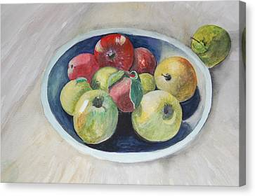 Fruit Bowl For Health Canvas Print by Janna Columbus