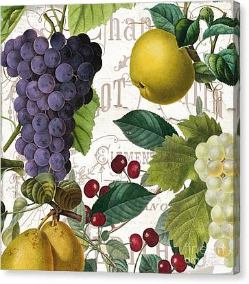 Purple Grapes Canvas Print - Fruit Bowl I by Mindy Sommers