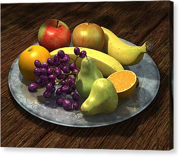 Fruit Bowl Canvas Print by Martin Davey