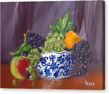 Fruit Bowl Canvas Print by Pete Maier