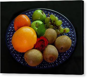 Fruit Dish Canvas Print by Peter Piatt