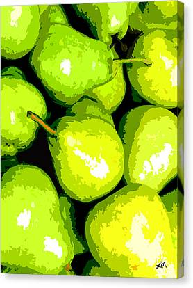 Pear Canvas Print - Fruit Expression Three - Pears by Linda Mears