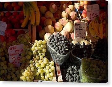 Fruit For Sale At The Rialto Market Canvas Print by Todd Gipstein