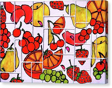 Fruit Fractals Canvas Print by Farah Faizal