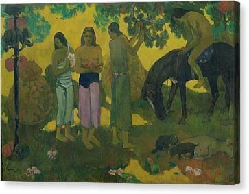 Fruit Gathering Canvas Print by Paul Gauguin