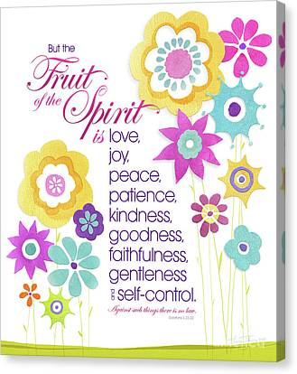 Canvas Print featuring the mixed media Fruit Of The Spirit by Shevon Johnson