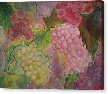 Fruit Of The Vine Canvas Print by Wendy Smith
