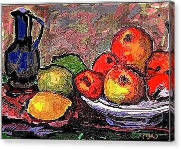 Fruit Canvas Print by Pemaro