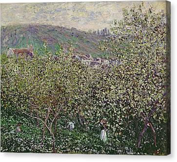 Fruit Pickers Canvas Print by Claude Monet