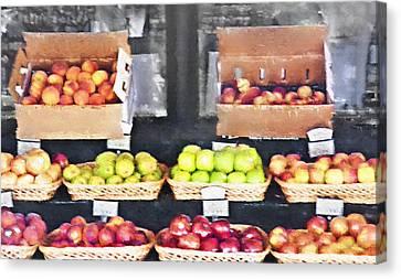 Fruit Stand - Carmel California Canvas Print by Steve Ohlsen