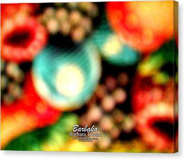 Canvas Print featuring the photograph Fruit Sticker by Barbara Tristan