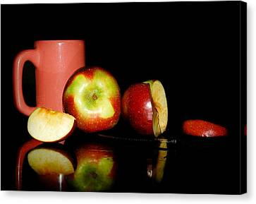 Glass Table Reflection Canvas Print - Fruit Tea by Diana Angstadt