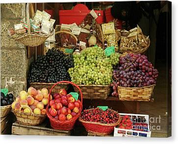 Fruit Vendor Sienna Canvas Print