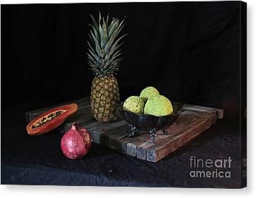Fruit With Kryptonite Canvas Print by Joe Jake Pratt