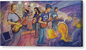 Canvas Print featuring the painting Fruition At The Barkley Ballroom by David Sockrider