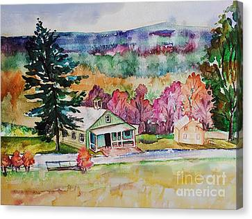 Canvas Print featuring the painting Fruitlands IIi by Priti Lathia