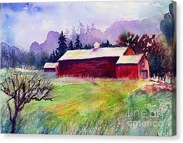 Canvas Print featuring the painting Fruitlands Museum II by Priti Lathia