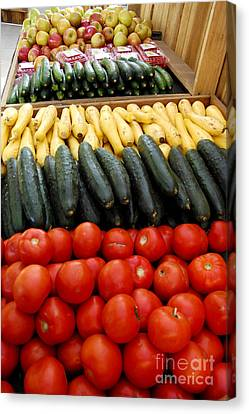 Fruits And Vegetables On Display 1 Canvas Print by Micah May