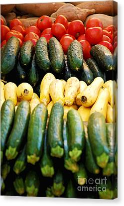 Fruits And Vegetables On Display 2 Canvas Print by Micah May