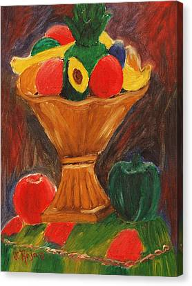 Fruits Still Life Canvas Print by Jose Rojas