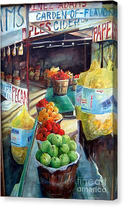 Fruitstand Rhythms Canvas Print