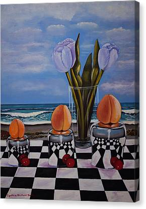 Fruity Day At The Beach Canvas Print by Cynthia Bluford