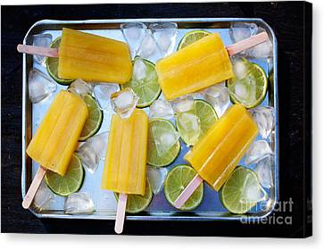 Fruity Popsicles Canvas Print by Kati Molin