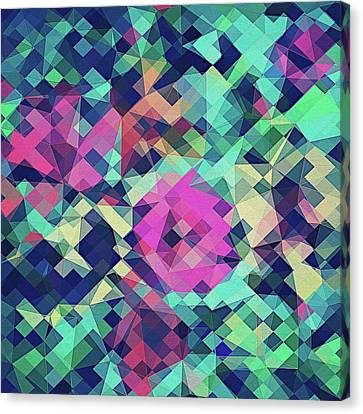 Fruity Rose   Fancy Colorful Abstraction Pattern Design  Green Pink Blue  Canvas Print by Philipp Rietz