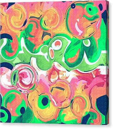 Fruity Swirls Abstract Design Canvas Print by Laura Haro