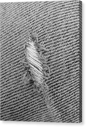 Fryed Jeans In B W Canvas Print by Rob Hans