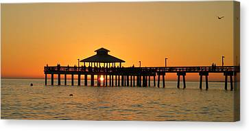 Ft. Myers Pier Canvas Print by Sean Allen