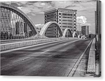Ft Worth Seventh Street Bridge Canvas Print by Tod and Cynthia Grubbs
