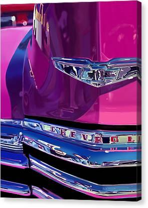 Fuchsia And Chrome Canvas Print by Bob Nolin