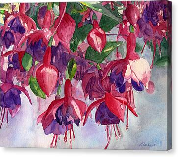 Fuchsia Frenzy Canvas Print by Lynne Reichhart