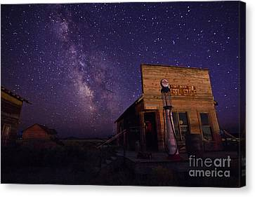 Milky Way Fuel Stop Canvas Print by Betty Doran