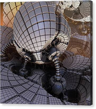 Canvas Print featuring the digital art Fueling Station On Alpha I by Richard Ortolano