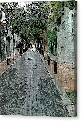 Fill Canvas Print - Fuengirola Quiet Back Street by Paul Gibbins