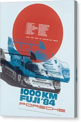 Fuji 1000 Kilometres Porsche 1984 Canvas Print by Georgia Fowler