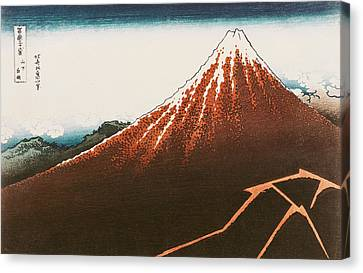 Fuji Above The Lightning Canvas Print by Hokusai