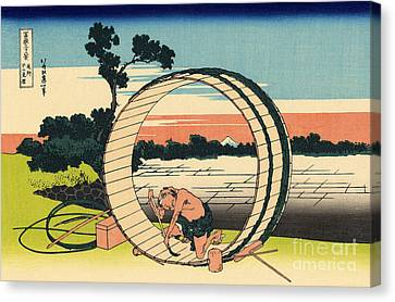 Fuji View Plain In Owari Province Canvas Print by Hokusai