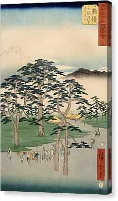 Fujisawa From The Series Fifty Three Stations Of The Tokaido Canvas Print by Hiroshige