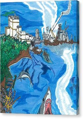 Fukushima Daiichi In Ruin Canvas Print by Justin Chase