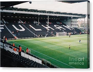 Fulham - Craven Cottage - North Stand Hammersmith End 3 - July 2004 Canvas Print by Legendary Football Grounds