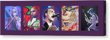 Canvas Print featuring the drawing Full Band Set by Joshua Morton