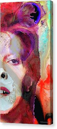 Music Icon Canvas Print - Full Color - David Bowie Tribute  by Sharon Cummings