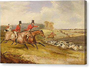 Rural Landscapes Canvas Print - Full Cry, Bachelor's Hall by Francis Calcraft Turner