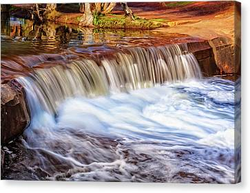 Canvas Print featuring the photograph Full Flow, Noble Falls, Perth by Dave Catley
