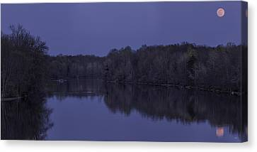Reflection Harvest Canvas Print - Full Flower Moon In May by Everet Regal