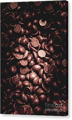 Full Frame Background Of Chocolate Chips Canvas Print by Jorgo Photography - Wall Art Gallery