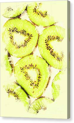 Full Frame Shot Of Fresh Kiwi Slices With Seeds Canvas Print by Jorgo Photography - Wall Art Gallery